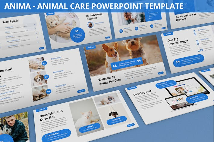 Thumbnail for Anima - Animal Care Powerpoint Template