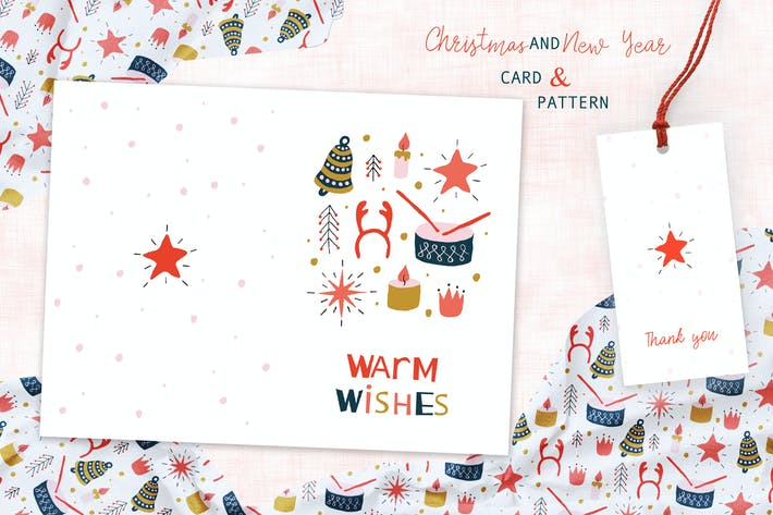 Thumbnail for Christmas Toys Greeting Card and Pattern