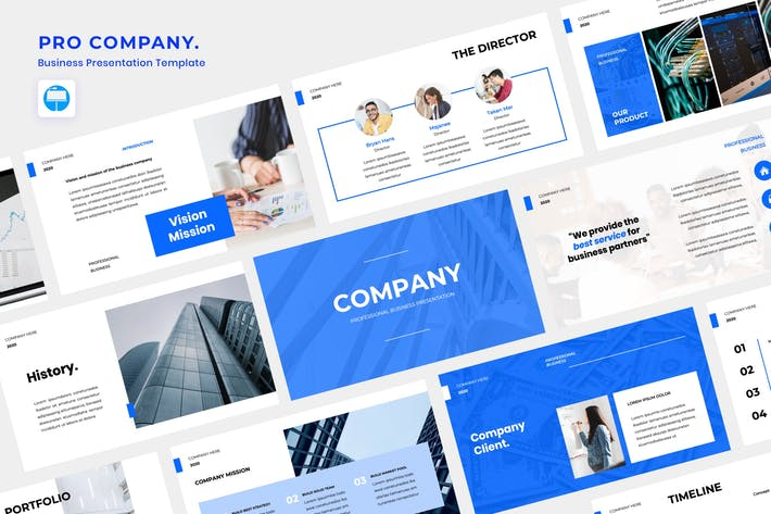 Thumbnail for Pro Company Keynote Template