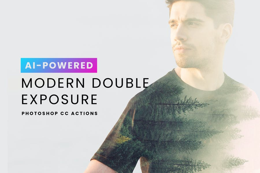 AI Modern Double Exposure Actions