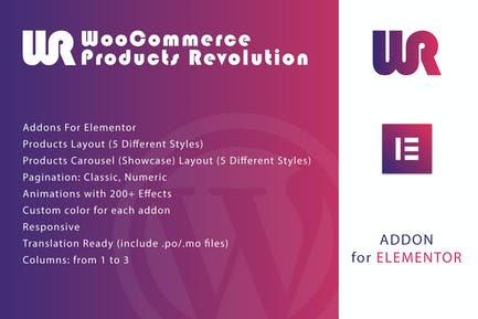 WooCommerce Products Revolution for Elementor