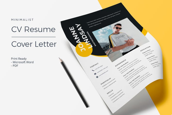 Thumbnail for Joanne Lindsay  - CV Resume Template