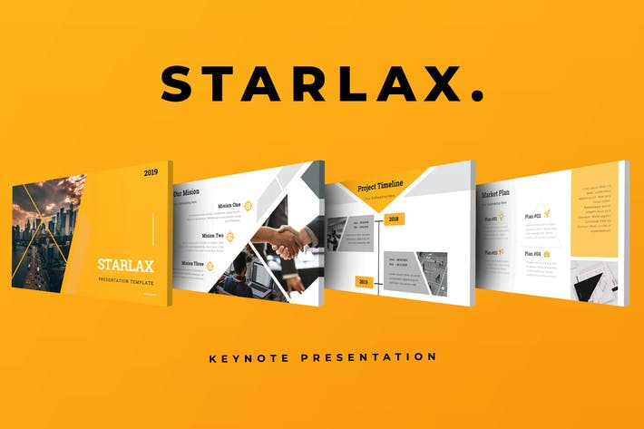 Thumbnail for Starlax Pitch Deck Keynote Presentation