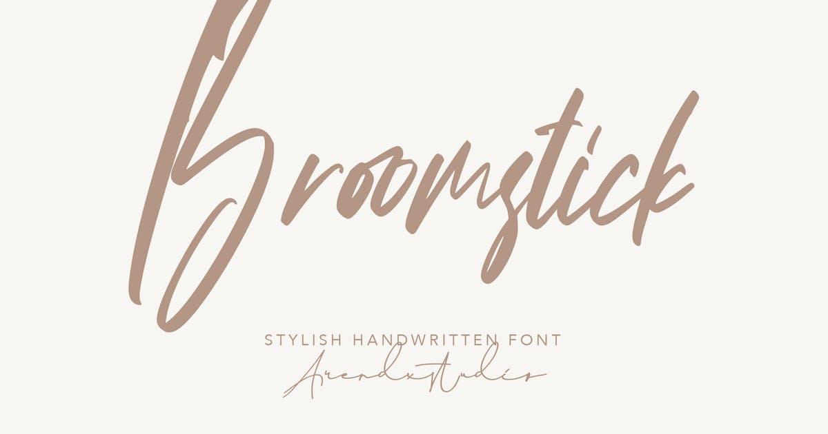 Download Broomstick - Handwritten Font by arendxstudio