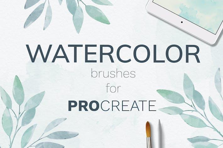 Thumbnail for Procreate watercolor brush set