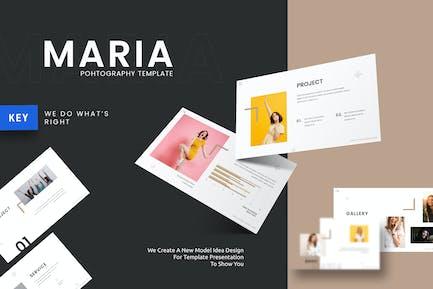 Maria - Шаблон ключевых заметок галереи