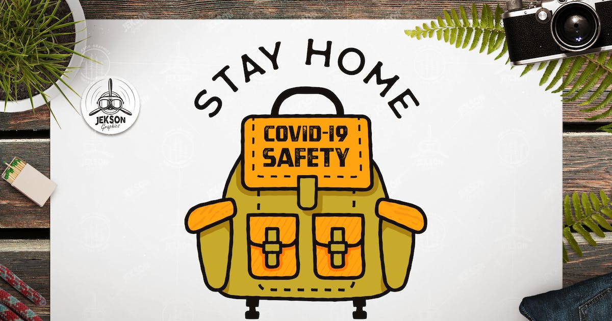 Download Stay Home Travel Later, Covid-19 Coronavirus Badge by JeksonJS