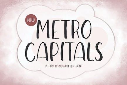 Metro Capitals - Handwritten Font