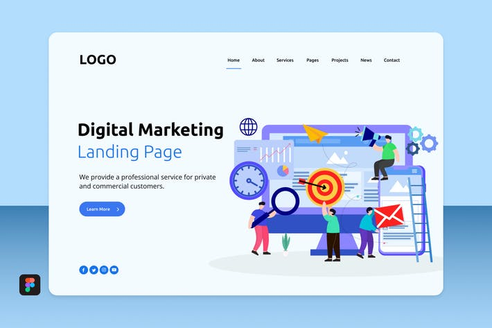 Thumbnail for Dimar - Digital Marketing Landing 6