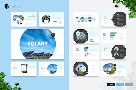 Solary - Plantilla de presentación de energía solar