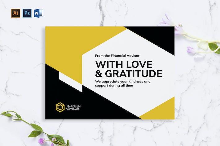 Financial Advisor Greeting Card