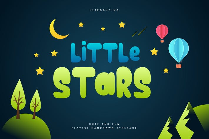Thumbnail for Little Stars - Fun Children Typeface