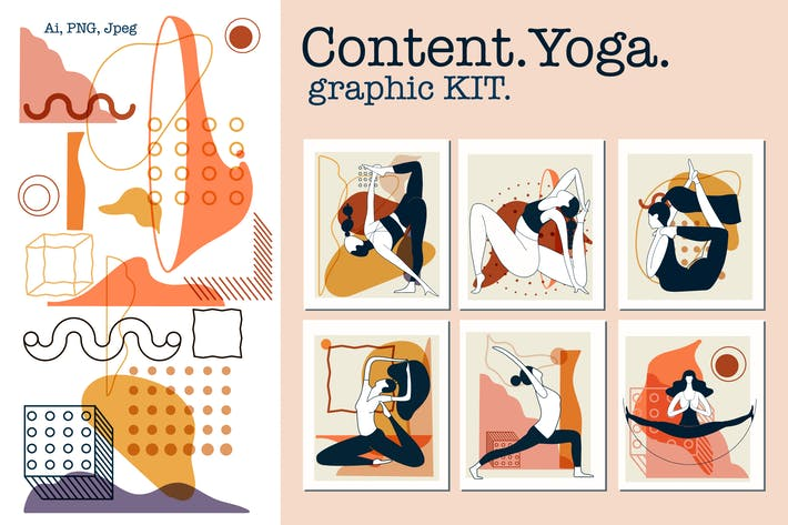 Thumbnail for Content.Yoga.Graphic KIT