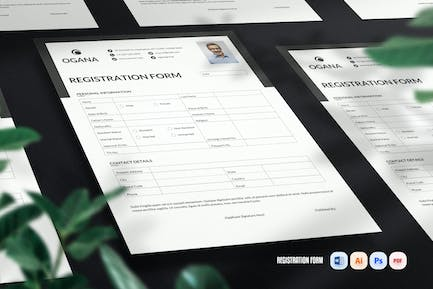 Registration Form Two Page
