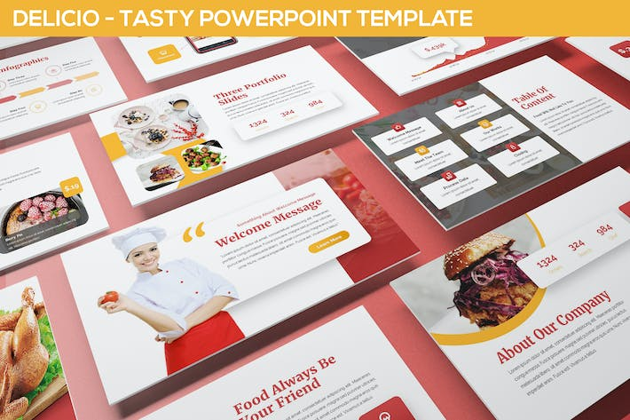 Thumbnail for Delicio - Tasty Powerpoint Template