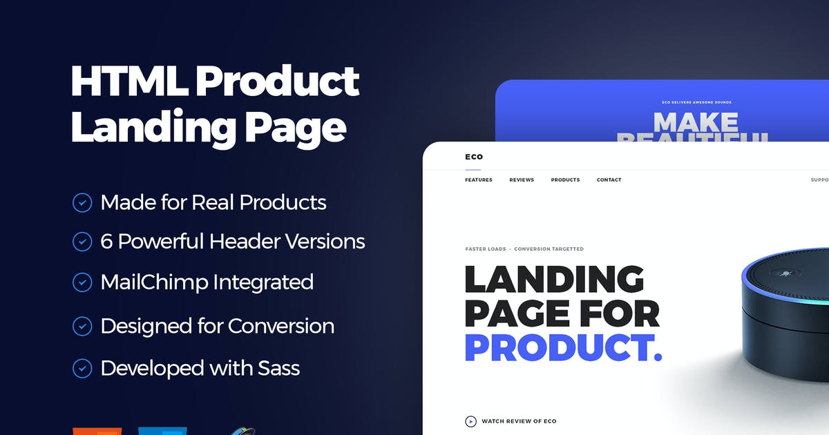 Download Eco - HTML Product Landing Page by teamuxtheme