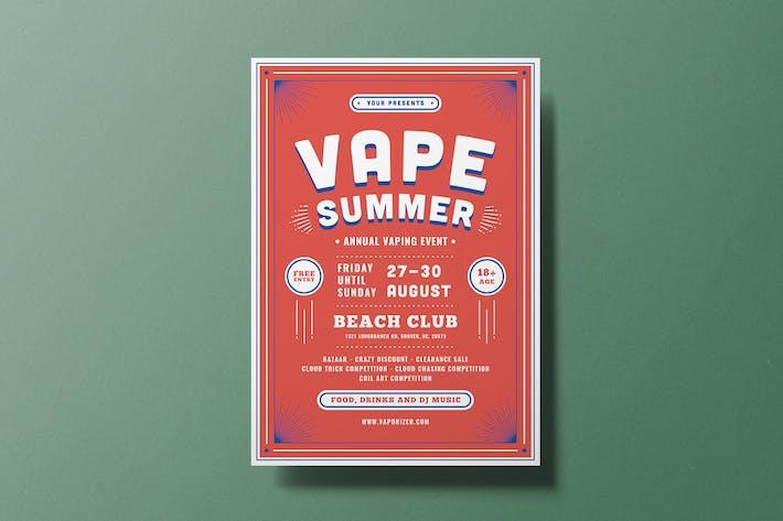 Vape Summer Flyer