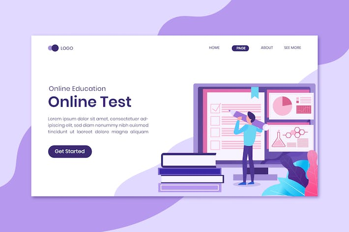 Test Online Education Landing Page