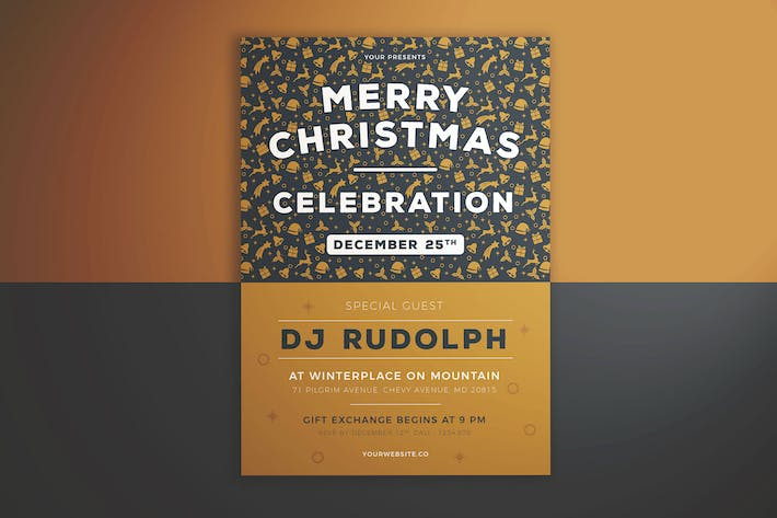 Thumbnail for Merry Christmas Celebration Flyer
