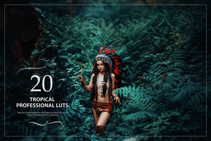 Thumbnail for 20 Tropical LUTs Pack
