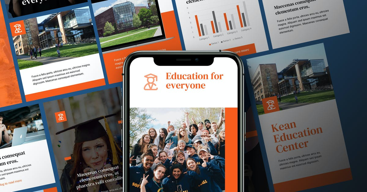 Download Kean - Education Instagram Kit Powerpoint by Slidehack