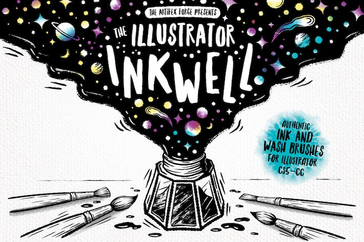 Thumbnail for The Illustrator Ink Well | Brushes