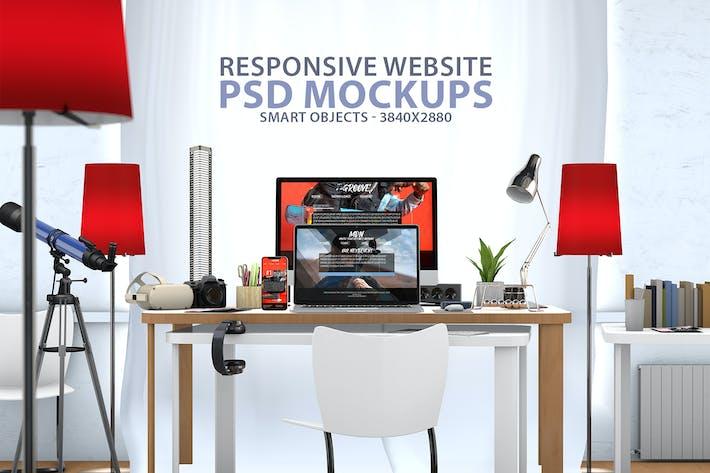 Thumbnail for Responsive Website PSD Mock-up Desk