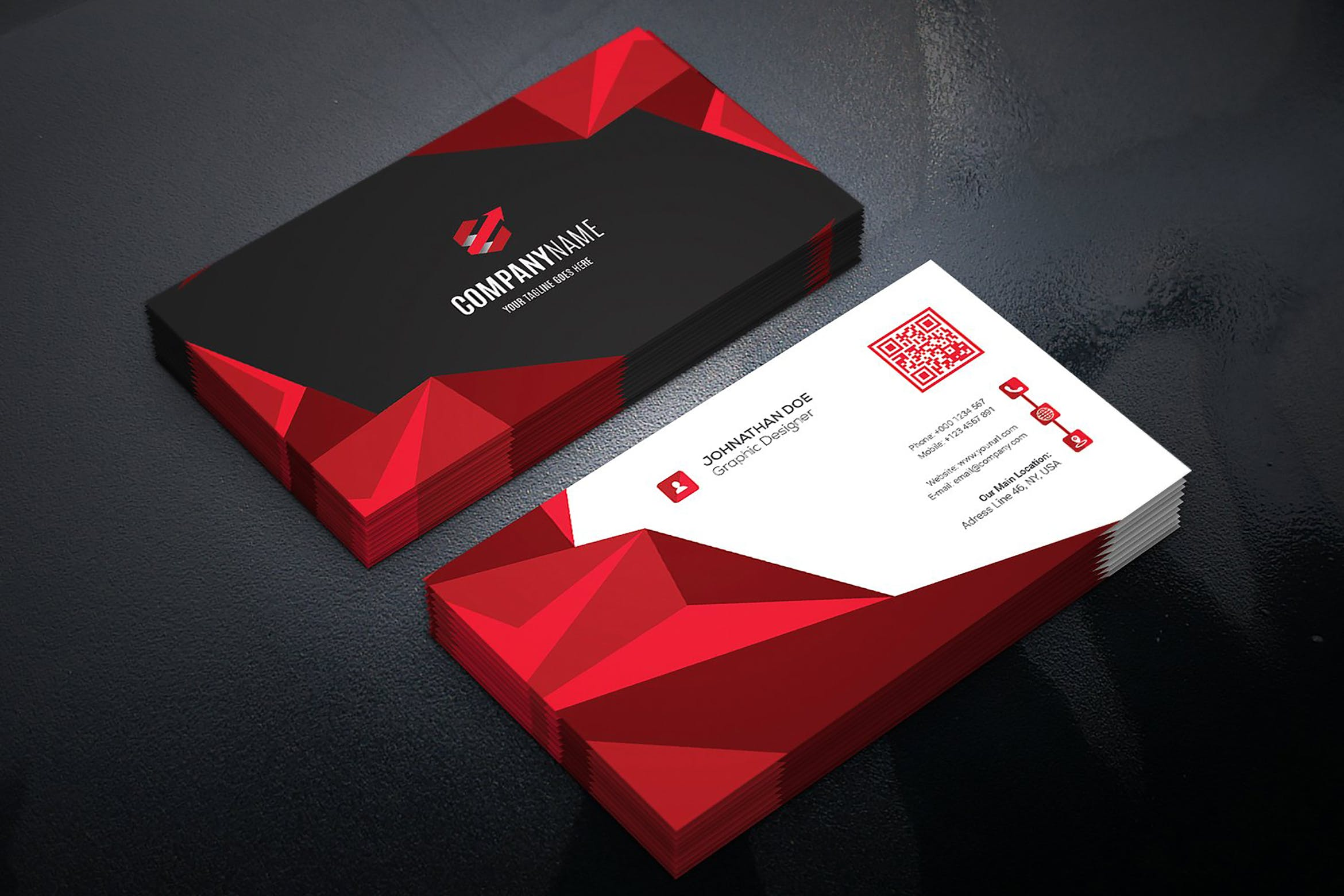 D Visiting Card Design Psd