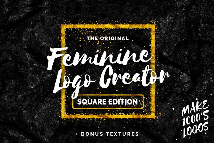 Thumbnail for Feminine Logo Creator Square Edition