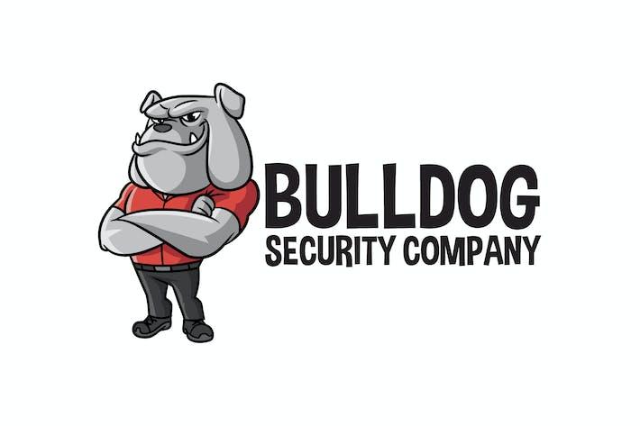 Thumbnail for Cartoon Bulldog Mascot Logo