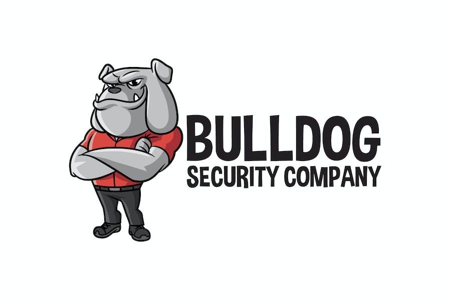 Cartoon Bulldog Mascot Logo