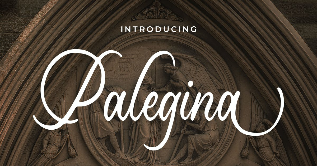 Download Palegina - Calligraphy Typeface by Blankids