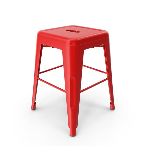 Thumbnail for Metal Stool Red