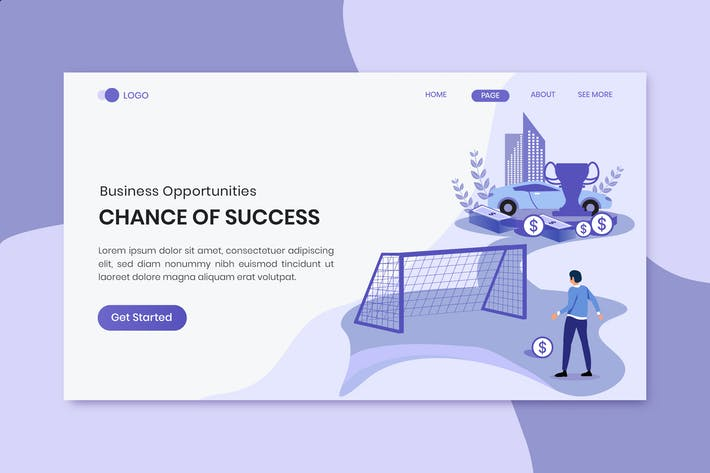 Thumbnail for Chances Of Success Business Marketing Landing Page