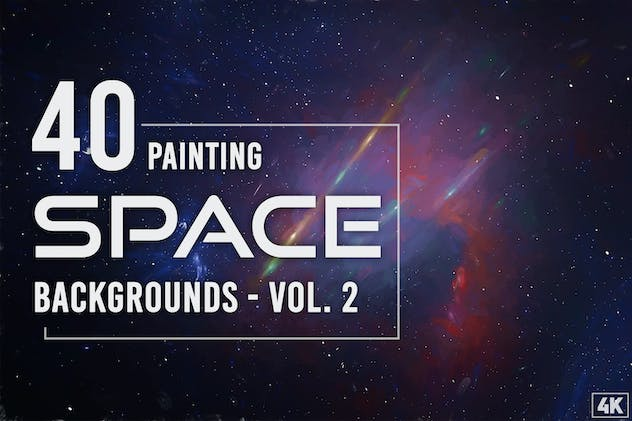 40 Space Painting Backgrounds - Vol. 2