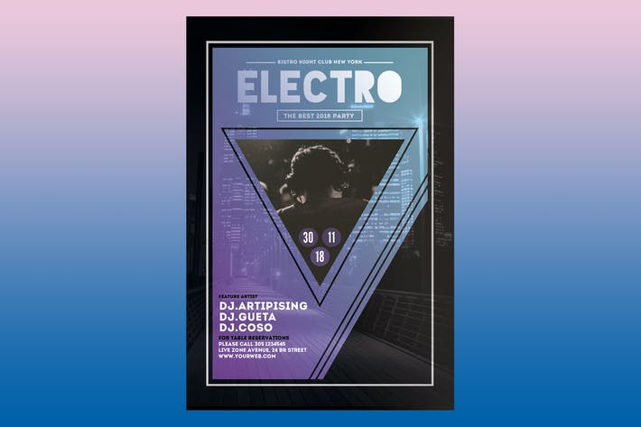 Cover Image For Electro Event Flyer Poster Flyer