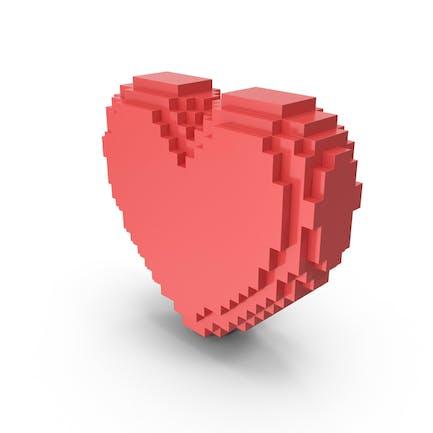 Solides gepixeltes Herz