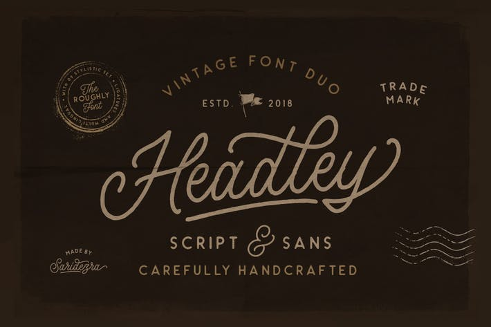 Thumbnail for Headley - Vintage Font Duo