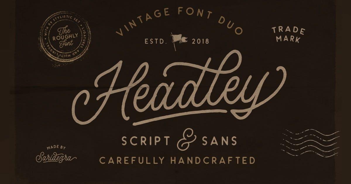 Download Headley - Vintage Font Duo by saridezra
