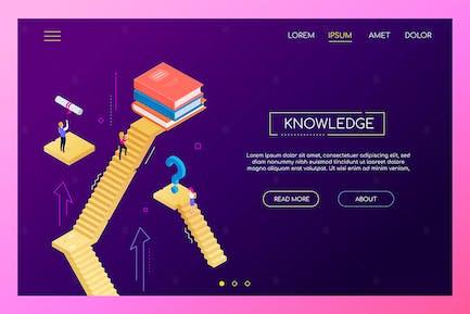 Wissenskonzept - modernes isometrisches WebBanner