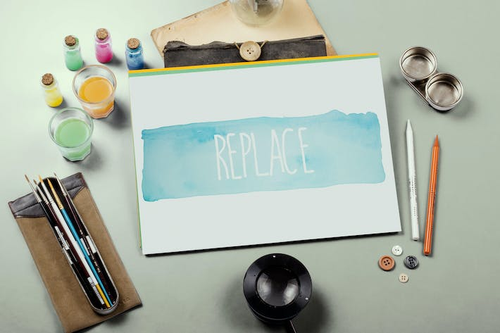 Thumbnail for Watercolor Paint Mockup Template #6