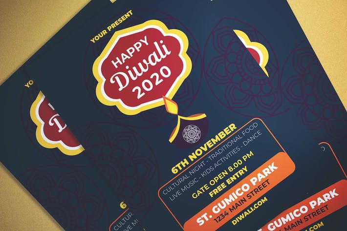 Cover Image For Happy Diwali Flyer