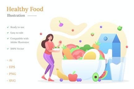 Gesundes Essen Illustration