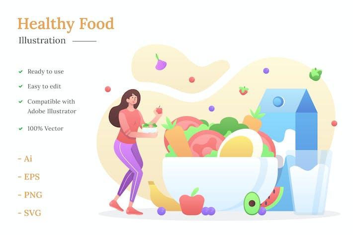 Иллюстрация здорового питания