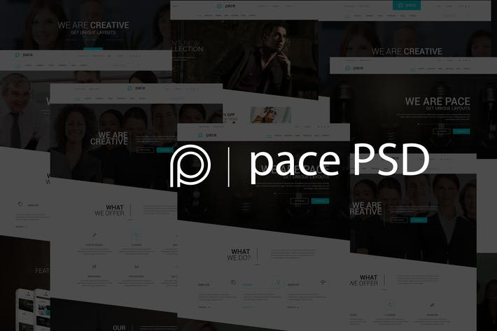 Thumbnail for Pace – Multipurpose Business PSD Template