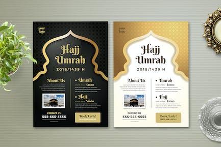 Hajj & Umrah Flyer Template