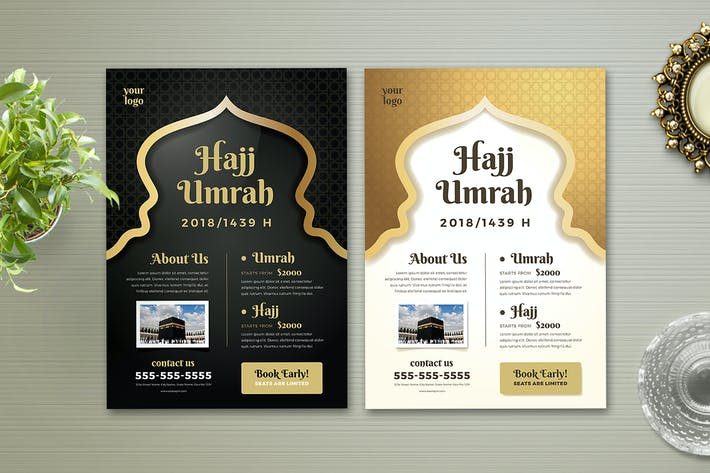 Thumbnail for Hajj & Umrah Flyer Template