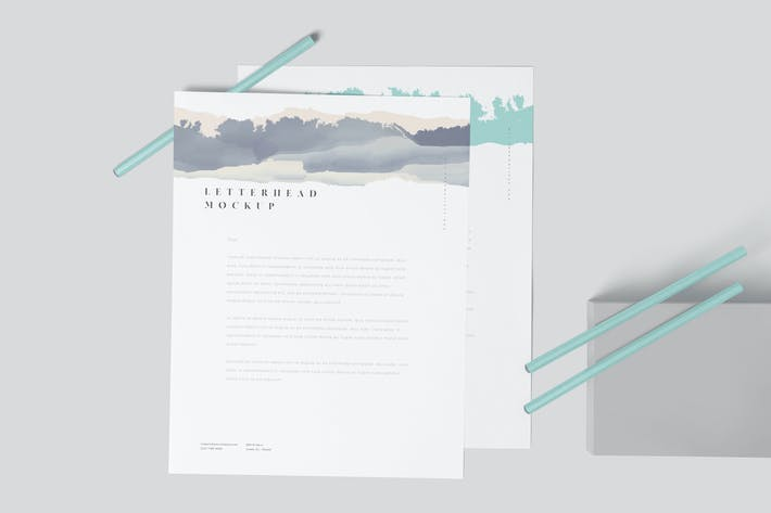 Thumbnail for US Letter Size Letterhead Mock-ups