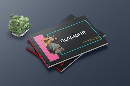 GLAMOUR A5 Broschüren Vorlage