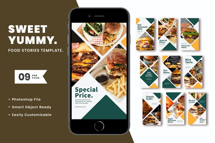 Thumbnail for Sweet Yummy Instagram Template